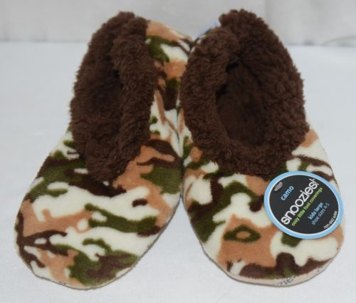 Snoozies KCM002 Foot Coverings Natural Brown Camo Size Kids 4 And 5
