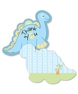 Baby Boy Dinosaur - Shaped Thank You Cards -Baby Shower or Birthday Part... - $20.21