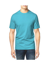 NEW MENS CLUB ROOM CREW NECK SHORT SLEEVE SOLID BLUE COTTON T SHIRT TEE M - $9.99
