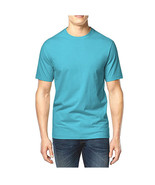 NEW MENS CLUB ROOM CREW NECK SHORT SLEEVE SOLID BLUE COTTON T SHIRT TEE M - $8.99