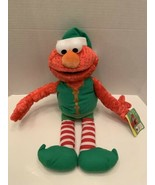 "Elmo Rare Vintage Christmas Elf Sesame Street Mattel Plush 2007 18""H tag - $32.95"