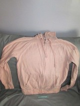 Gap Pink Hooded Zip Front Hoodie Jacket Size Small - $27.71