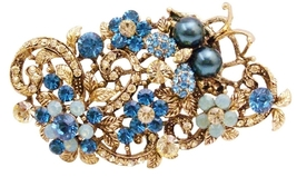 Exquisite Marvelous Brooch Indicolite Jonquil Crystals Boquet Brooch - $27.68