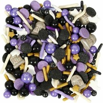 Spooky Ghost RIP Mix Tall Sprinkles Decorations 4.23 oz Wilton Halloween - $5.93
