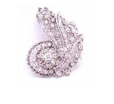 Artistically Made Vintage Brooch & Can Be Pendant Fully Embedded with - $27.68