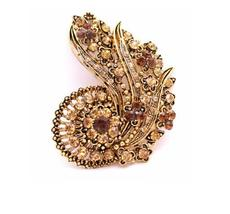 Hollywood Glamour Just For You Celebrity Inspired Vintage Brooch - $27.68