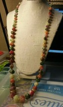 "Vintage Jewelry: 28"" Colorful Beaded Necklace  2016111617 - $8.90"