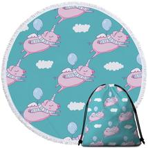 Flying Unicorn Pigs Beach Towel - $12.32+
