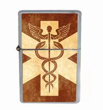 Medical Shield Rs1 Flip Top Oil Lighter Wind Resistant With Case - $13.95