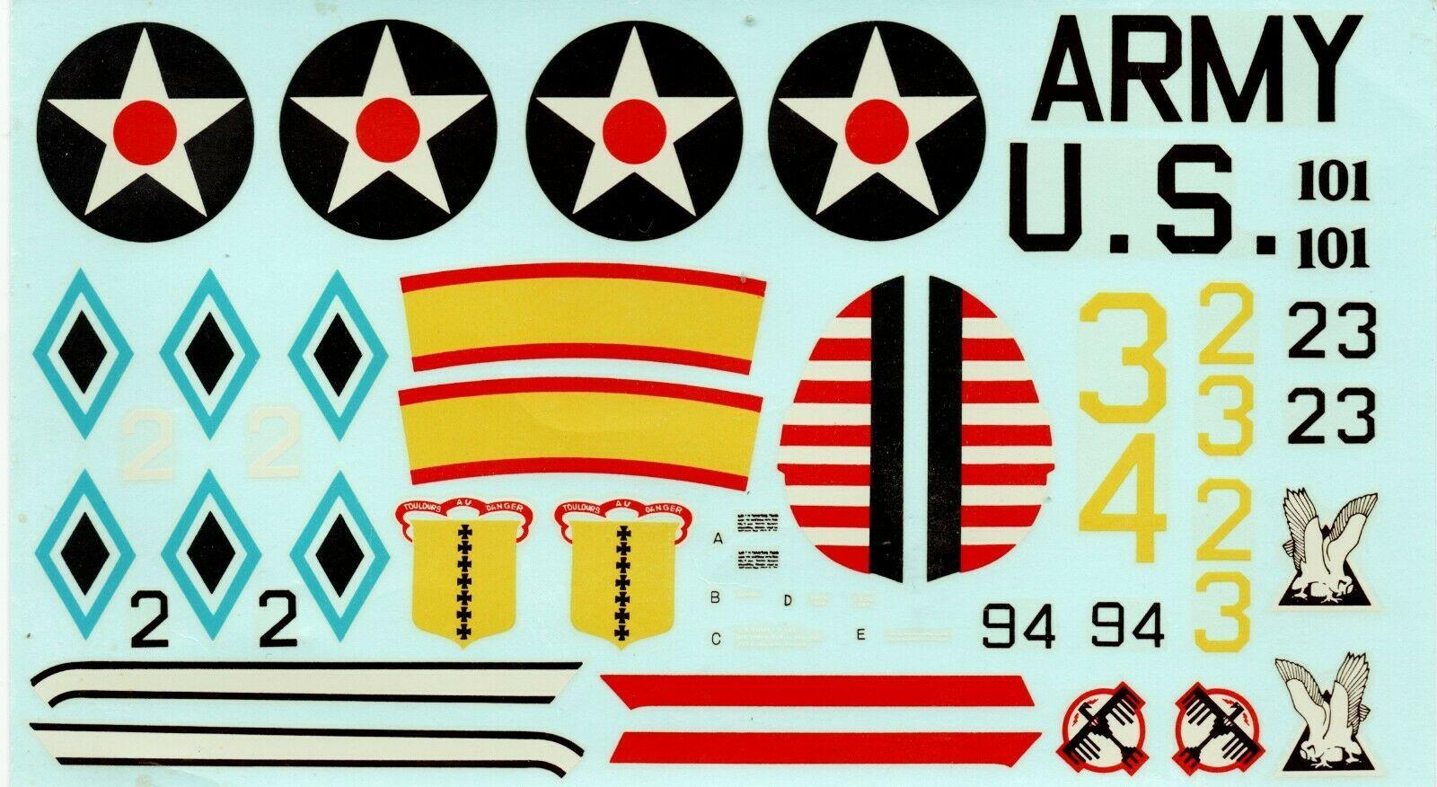 GENUINE HASEGAWA OEM 1/32 P26A PEASHOOTER DECALS US ARMY VINTAGE Made in Japan - $14.99