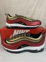 NEW Women's Nike Air Max 97 University Red/ Metallic Gold (CT1148-600) Size 11 - $128.65
