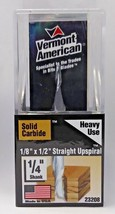 """Vermont American 23208 Heavy Use 1/8"""" x 1/2"""" Straight Upspiral Router Bit USA - $6.93"""