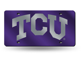 NCAA TCU Horned Frogs Laser License Plate Tag - Purple - $29.39