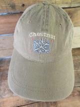 Chestnut Snowflake Adjustable Adult Hat Cap - $8.90