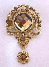 Gold Plated Casting Briesmaides Copper Gold Dangling Brooch Pin - $24.43