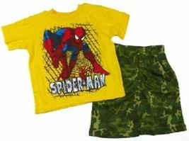 Infant Boy's Spider-Man 2-Piece Shorts Set Tee T-Shirt Shirt Baby NEW