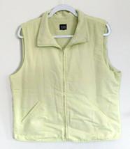 Eileen Fisher Womans Large Light Green Fleeced Lined Zip Vest Jacket  - $19.79