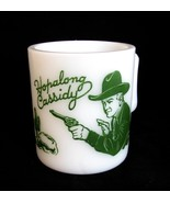 1950s Mug Childrens Hopalong Cassidy Hazel Atlas Milk Glass - $38.00