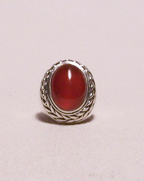 Carnelian Sterling Silver Ring  Mens Unisex Size 8 MADE IN USA