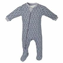 ZippyJamz Organic Baby Footed PJs w/Inseam Zipper ~Drip Drop Dream 6-9 M - $29.99