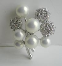 Opal Pearls & Cubic Zircon Cute Pin Brooch - $20.55