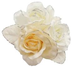 Satin Feminine Fabric Flower Bridesmaid Bridal Dresses & Cake Brooch - $11.43