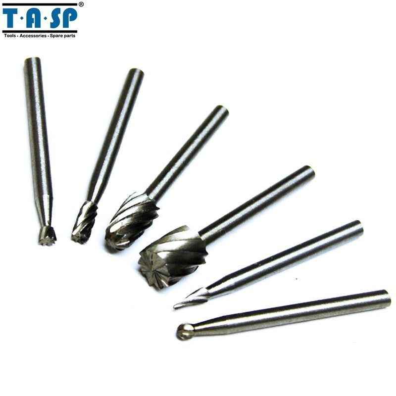 Primary image for TASP® 6PC/Set HSS Rotary Burr Mill Cutter Routing Router Bit Mini Drill