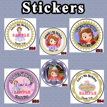 Princess Sofia The First Printed Birthday Stickers 1 Sheet Personalized ... - $5.75