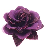 Multi Layered In Purple Organza Flower Brooch For Dresses Classy Style - $12.73