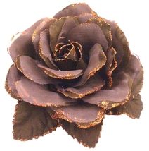 Soft Cocoa Color Flower Brooch Perfect Shade For Wedding & Hair Bun - $12.73