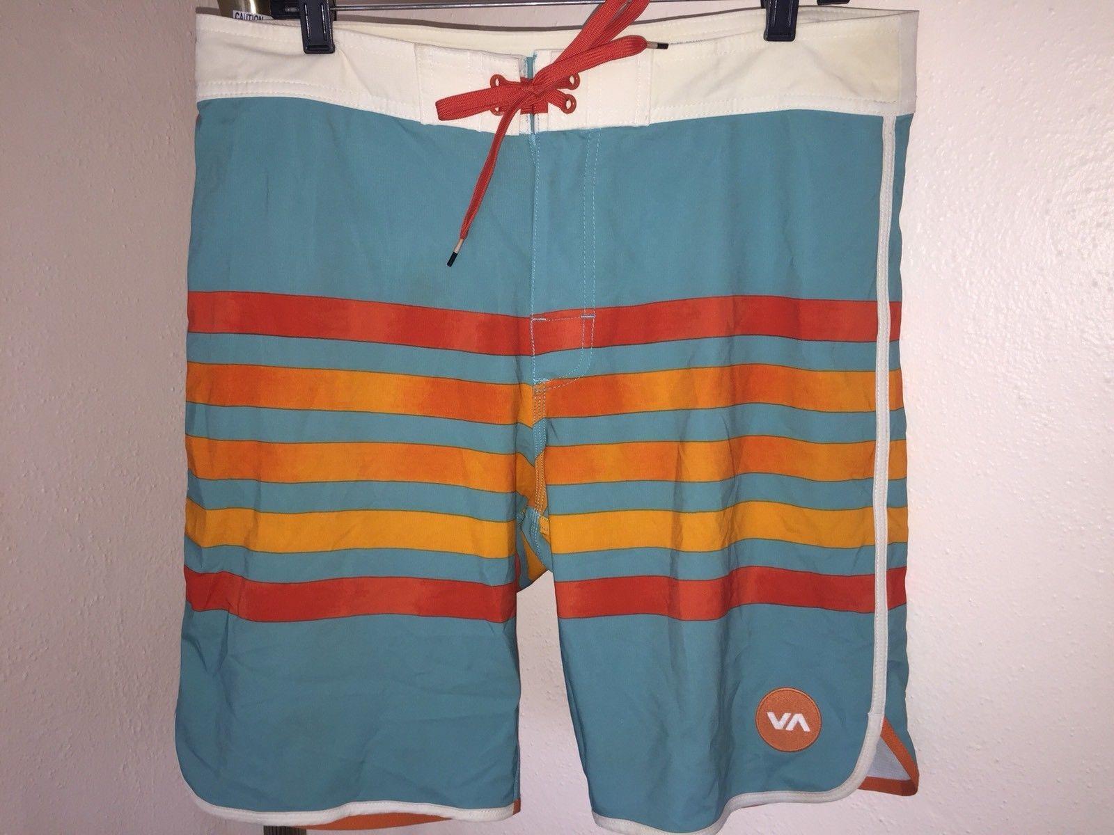 bb91fa91f5 S l1600. S l1600. Previous. Men's RVCA Striped 4-Way Performance Stretch Boardshorts  Size 33