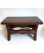"Foot Stool 14"" X 7.5"" Vtg Primitive Wood Cricket Footstool Bench - $39.59"