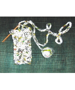 Crocheted Plarn Sports Water Bottle Holder Recycle - $9.95