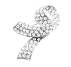 Breast Cancer Brooch Fully Embedded with Crystals At Affordable Price - $12.08