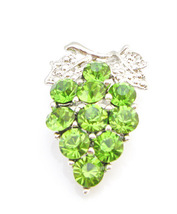 Sparkling & Gorgeous Peridot Crystals Tree Brooch Pin - $10.13