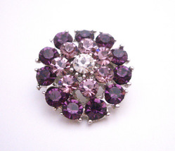 Exclusive Beautiful Amethyst Lite Amethyst Crystal Brooch Prom Jewelry - $10.13