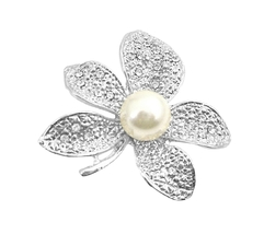 Contemporary Dashing Sparkling Flower Dress Brooch - $9.48