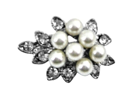 Tiny Bouquet Pearl Dainty Affordable Beautiful Cheap Brooch Pin Gift - $8.18