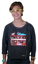 Paul Frank Cruising In London Black Dolman Longsleeve Sweater Top - $15.07
