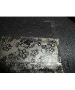 Rain Bonnet Black Floral  in Black and Floral Case - $5.00