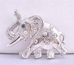 Silver Casting Elephant Trunk Brooch Pin Vintage Jewelry - $10.15