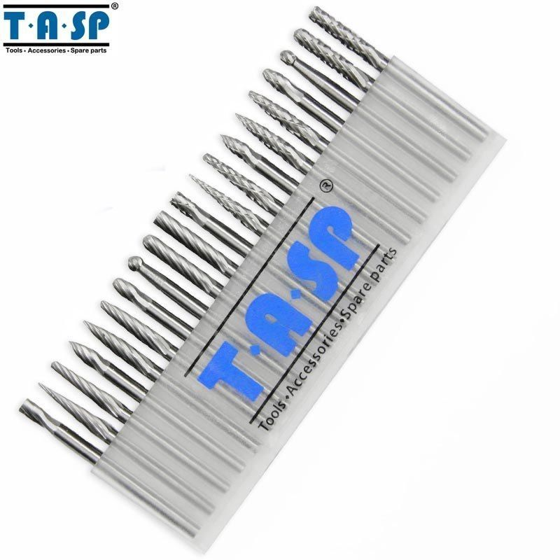 Primary image for TASP® 20pc/Set Tungsten Carbide Rotary Burr Bit Set Engraving Milling Cutter