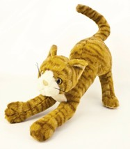"Ty Classic Stretch Kitty Cat 13"" Plush Orange Striped Kitten Stuffed Animal 1999 - $8.95"