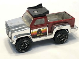 1982 Tonka #6 Metal 4x4 Toy Pick Up Race Truck Made In Mexico - $19.59