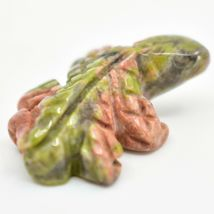 Unakite Jasper Gemstone Tiny Miniature Frog Figurine Hand Carved in China image 9