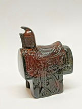 Vintage  Avon Brown Horse Saddle Collectable Bottle Leather Aftershave - $15.47