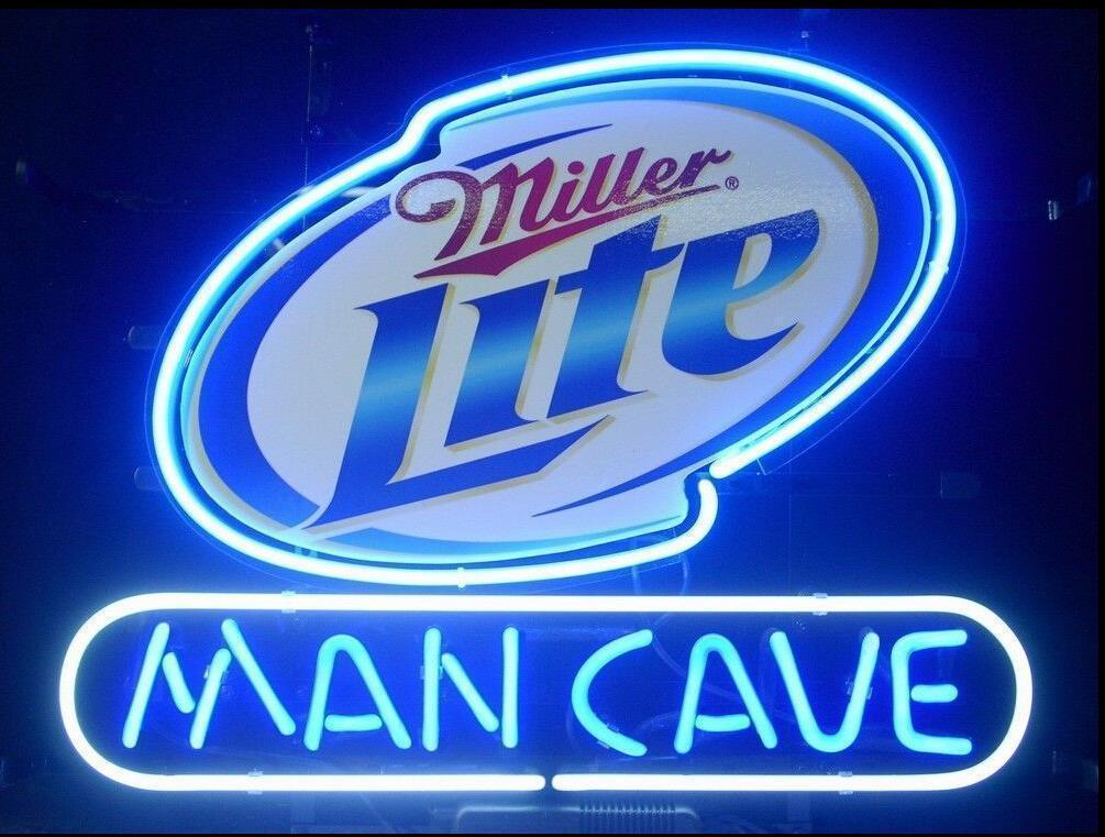 "New Miller Lite Man Cave Beer Bar Man Cave Neon Sign 24""x20"""