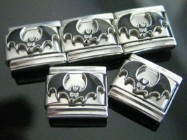 Bat  Italian Charm fits Classic 9mm Modular Link Bracelets Stainless steel - $4.67