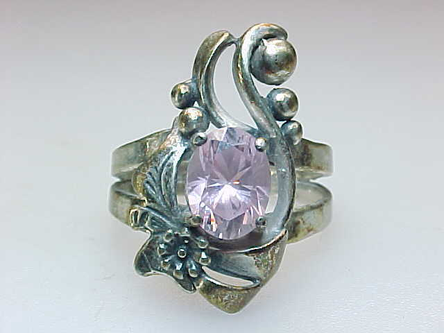 Primary image for MINE FINDS by JAY KING PINK CUBIC ZIRCONIA RING in Sterling Silver - Size 6