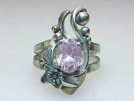 MINE FINDS by JAY KING PINK CUBIC ZIRCONIA RING in Sterling Silver - Size 6 - $60.00